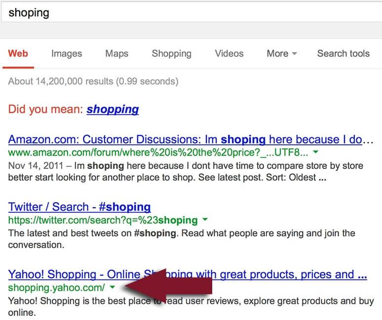 الگوریتم غلط املایی گوگل